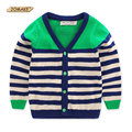 Striped Boys Cardigan European And American Style Single Breasted Baby Sweater Children Coat Long Sleeve V-Neck Boys Coat