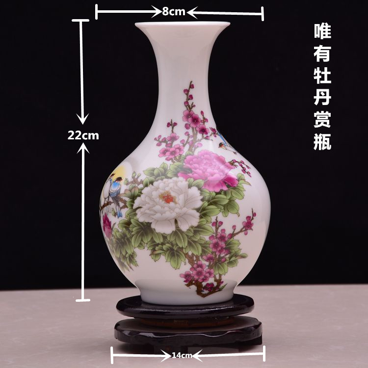 Jingdezhen ceramic vase floral arrangement Home Furnishing jewelry ornaments, the living room decorationJingdezhen ceramic vase floral arrangement Home Furnishing jewelry ornaments, the living room decoration