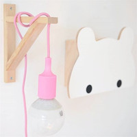 Cute Nordic Baby Room Night Light Background Wall Decorative Hanging Light Christmas Party Decor Kids Room With Bulb(Plastic)