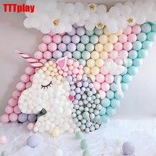 Macaron renkli lateks balonlar 30 adet 5 inç festivali doğum günü partisi dekoratif balonlar tatlı renkli parti asılı dekorasyon