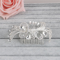 Miallo Rhinestone Crystal Bridal Hair Combs Flower Silver Gold Plated Barrette Tiaras Hairclip Hairpins Jewelry Accessories