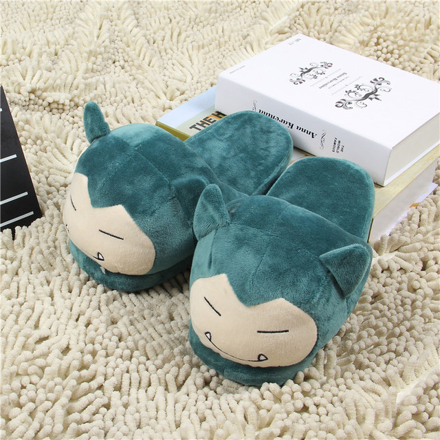 Women Anime Cartoon Pokemon Slippers Lovers Warm Woman Slippers Elf Ball Pikachu Go Plush Shoes Home House Slippers Children 2