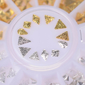 1 Box Gold Silver Square Rhombus Triangle Teardrop 3D Nail Decoration Mixed Acrylic Nail Art Manicure Decoration
