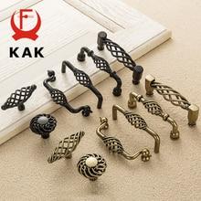 Tiradores de armario de bronce envejecido KAK, tiradores huecos para jaula de pájaros, tiradores de cajón, tiradores de puerta de armario, tirador de muebles