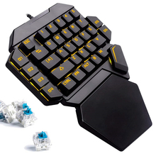 K50 Wired Gaming Mechanical Keyboard Blue Switch RGB One-handed With Wrist Pad 35Key for PC MINI