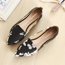 Women Pointed Toe Flats Slip On Female Loafers Spring Autumn Ladies Shoes Summer Shoes Woman Plus Size 33-43 YY0057