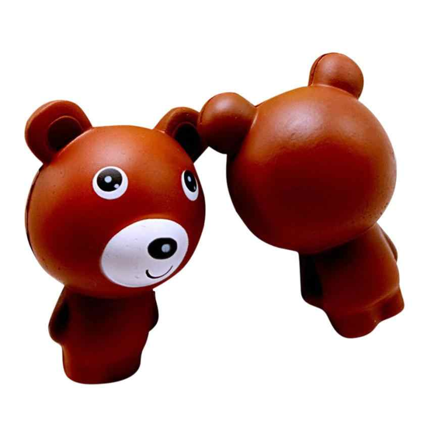 10cm Cute Bear Cartoon Soft Squishy Charms Milk Bag Toy Slow Rising for Children Adults Relieves Stress Anxiety Cabinet Decor