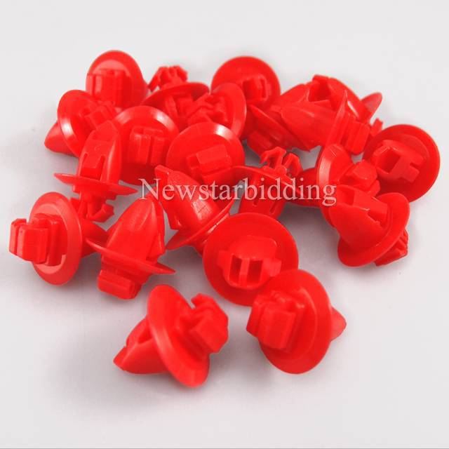 50pcs Oem For Toyota Lexus Highlander, Land Cruiser, Tacoma & Tundra Push-Type Bumper Fender Retainer Red Clips 90904-67037