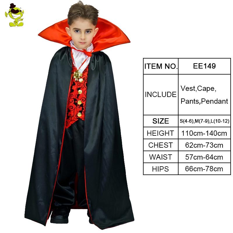 waist coat /& cape Dracula halloween costume for kids aged 7-9 inc Trousers