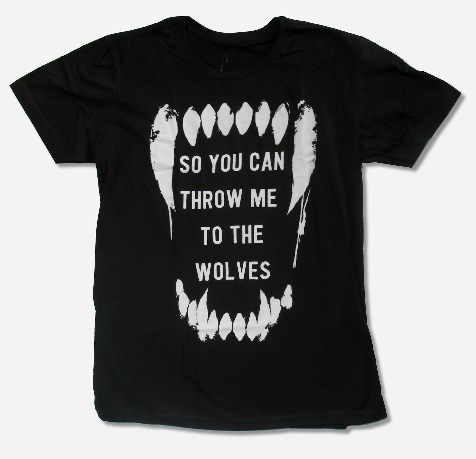 New Arrival Male Tees Bring Me The Horizon Wolves Black Slim Fit T Shirt New Official Adult Band My T Shirt Designs