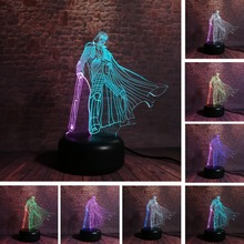 New Star Wars Mixed Double Colored Black Warrior Modelling 3D 7 Color Dimming Gradient Night Light LED Child Kids Sleeping Gifts