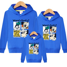 Family Matching Outfits Kids Long Sleeves Cartoon Mickey Hoodies Coats Father Mother Daughter Son Sweatshirts Dad Mom Hoodies s kids bing bunny cartoon print hoodies coats for boys girls rabbit long sleeves hoody sweatshirts for children costumes