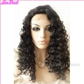 New Coming Medium Length Heat Resistant Black curly afro Synthetic Lace Front Wig For African American Women 45cm Perucas