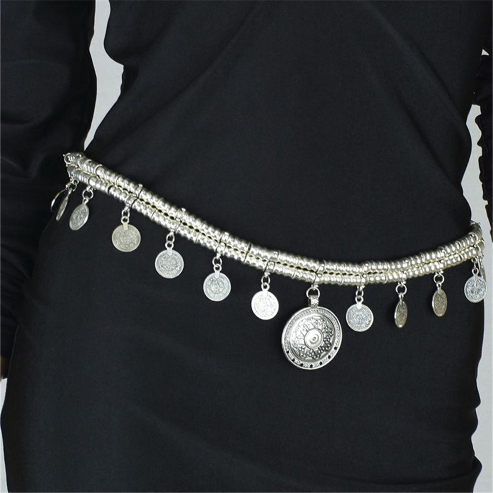 Rumbai Koin Pantdent Rantai Perut Wanita Boho Bohemian Shimmy Sabuk - Perhiasan fashion