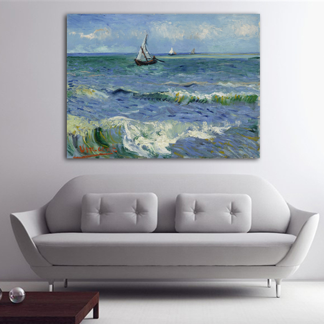 Famous artwork Abstract canvas picture Van Gogh Seascape oil