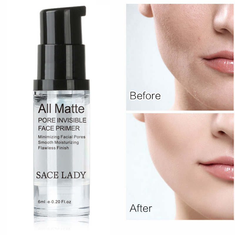 SACE LADY 6ml 12ml Cosmetic Facial Cream Face Base Hydrating Makeup Primer Liquid Natural Long Lasting Nude Foundation