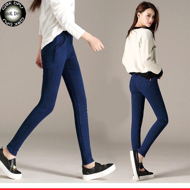 e11c9e0a07 women's casual elastic jeans tights pants 2018 New arrival street wear  black jogger leggings women sexy slim Denim Pencil Pants