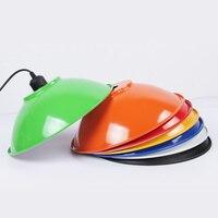 E27シンプルなカラーつりランプダイニングルームオーバーヘッド光パーソナライズオフィスランプエジソン電球ダブルサイド塗料ランプ
