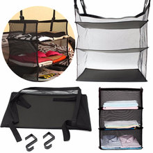 Hanging Organizer 3 Layers Travel Wardrobe Bag Suitcase Shelves Trave Storage Hooks