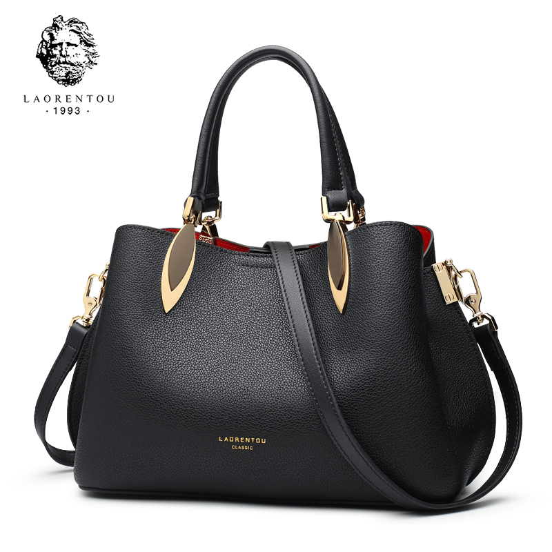 LAORENTOU Brand Women Handbag Fashion Shoulder Messenger Bag Lady Crossbody Bag 2018 New Large-Capacity Leather Atmospheric Tote