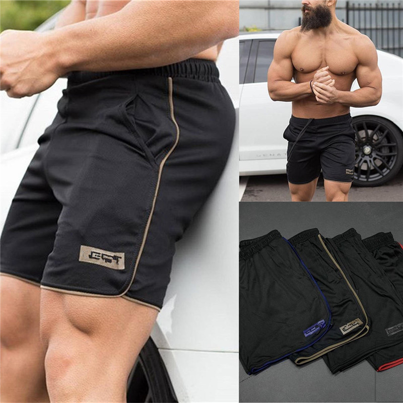 Men Clothing 2018 Bodybuilding Summer   Shorts     Board     Shorts   Workout Fitness   Short   Pants