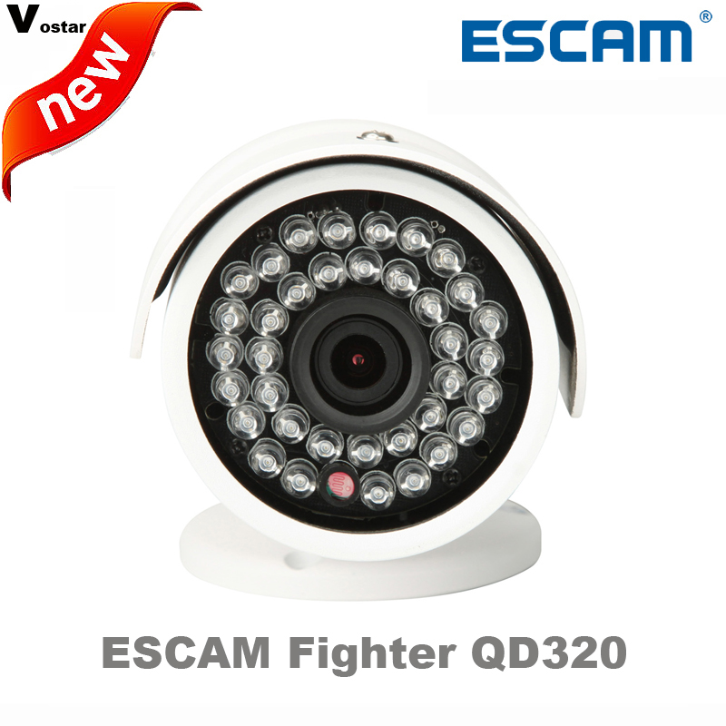 ФОТО Escam Fighter QD320 IP Camera Night Vision Waterproof P2P Onvif 3.6mm Fixed Lens 720P IR Bullet H.264 1/4 CMOS Security Camera