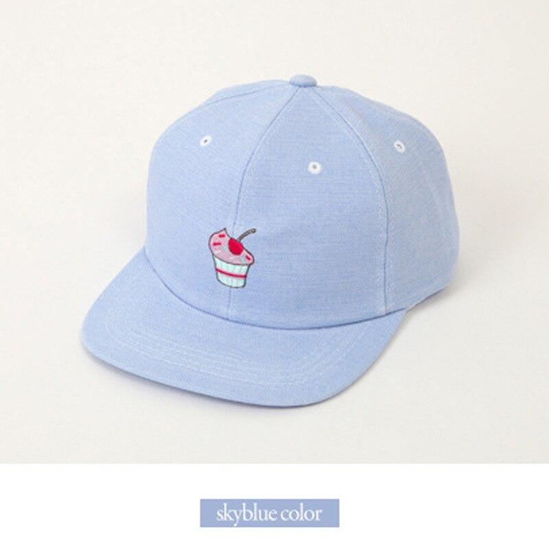 Prix pour Baseball Chapeaux-Chaude Casquettes de Baseball mignon style crème Glacée bonbons couleur plat hip-hop chapeau rose casquette de baseball pour hommes femmes 70201