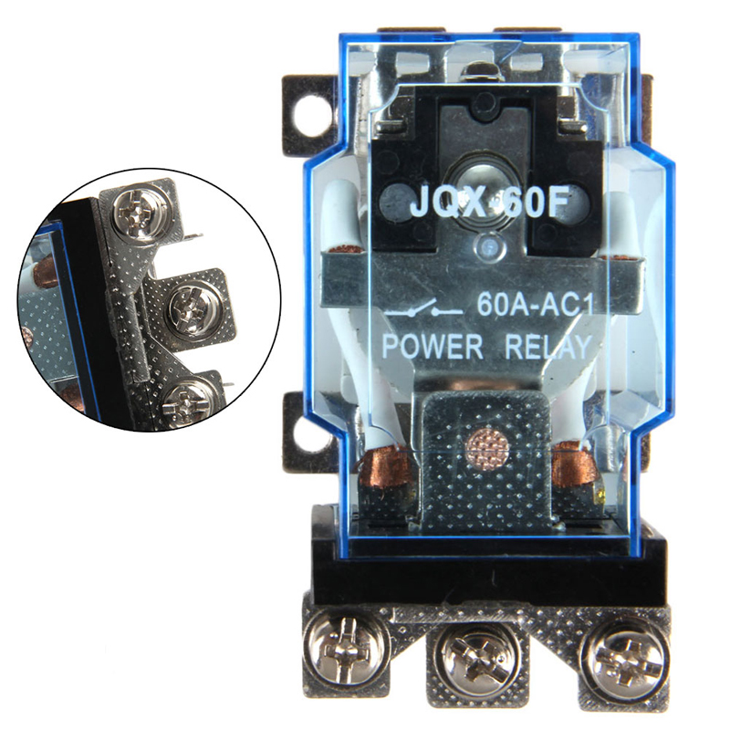 цена на JQX-60F High-power Relay 12V 24V Bumper Car 220V Current 1Z 60A AC 220V coil power relay