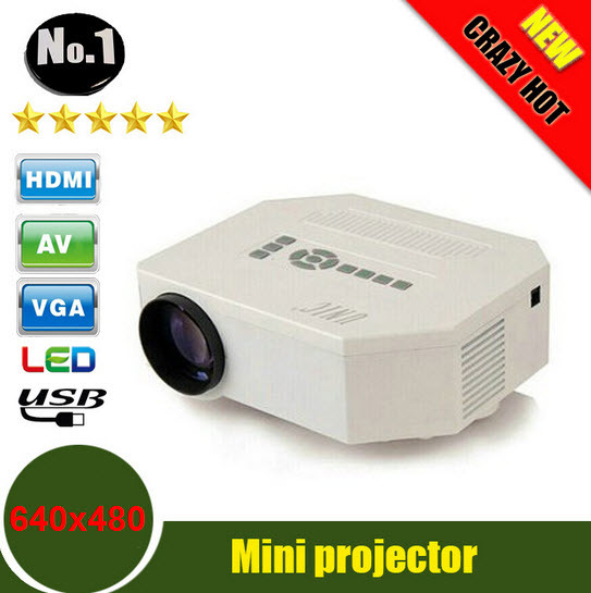 Special Price UC30 HD mini LED projector / Native 640X480 / Support HDMI / Three Glasses lenses/ 150 lumens With Remote Controller