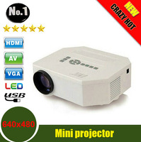 UC30 HD Mini LED Projector Native 640X480 Support HDMI Three Glasses Lenses 150 Lumens With Remote