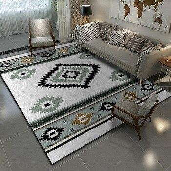 Alfombras estilo étnico Bohemia sala de estar dormitorio alfombras cortas de Cachemira de cristal impreso alfombra baño europeo alfombra antideslizante