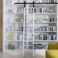 Kinmade черный прокатки лестницы оборудования, библиотеки раздвижная лестница комплект оборудования