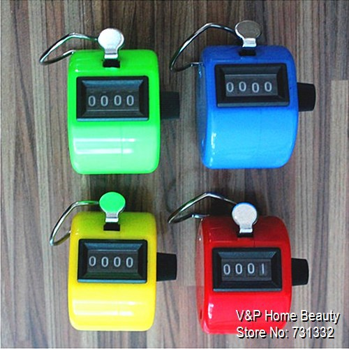 4 Pcs/Lot Colored Hand Mechanical Counter Stationery Tally Counter Tasbih Frequency Counter People Counter Lap Timer 5502