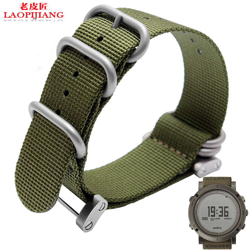 Laopijiang fit suunto essential source song Billiton watch band for men duty quality nylon nato strap sports with adparts +tools image