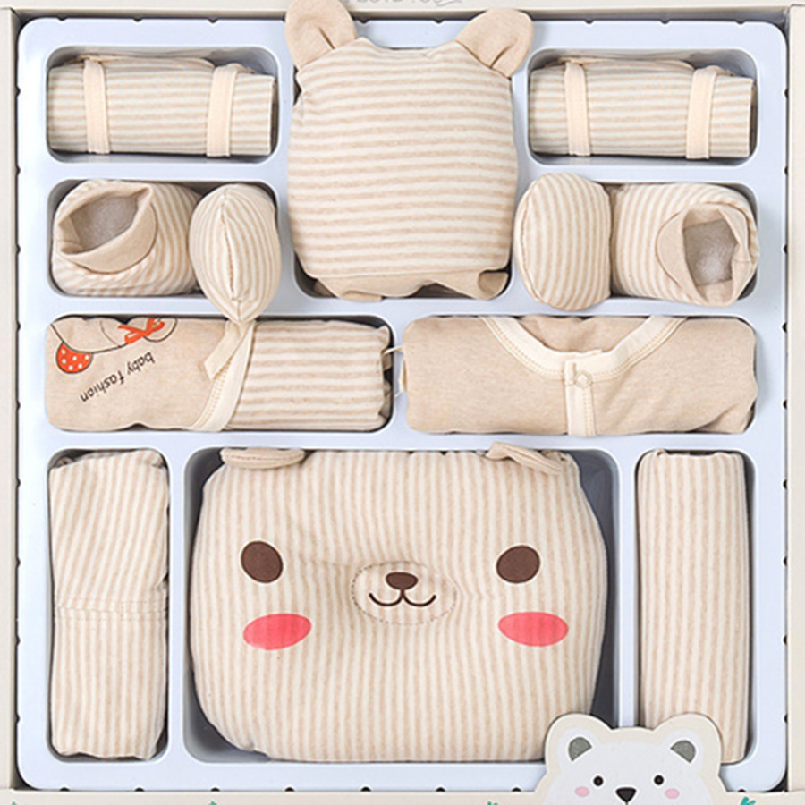 13 Pcs/Set Cotton Cartoon Newborn Baby Girl Clothes Autumn Winter Baby Boy Clothing Set Print Toddler Baby Clothes Outfit Gift baby girl clothes baby winter suit spring and autumn warm baby boy clothes newborn fashion cotton clothes two sets of underwear