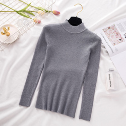 New Turtleneck Knitted Sweater Female Casual Pullover Women Autumn Winter Tops Korean Sweaters Fashion 2018 Women Sweater Jumper 6