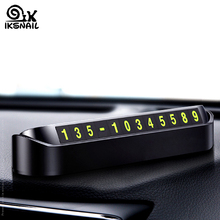 IKSNAIL Car Styling Temporary Parking Card Phone Number Card Plate Hidden Interior Car Telephone Number Stop Auto Accessories