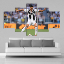 Italy FC 5 Pieces Cristiano Ronaldo Posters Wall Canvas Paintings Football Sports Art Prints Kids Room Home Decor