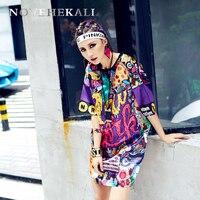 2017 Summer Personality New Women S T Shirt Europe Trend Street Graffiti Clothing Tee T Youthful