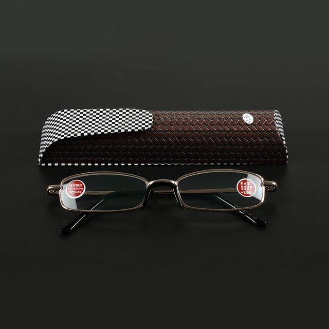 Ultralight Slim Metal Frame Reading Glasses Men Women Fashionable Presbyopic Eyeglasses Diopter1.0 1.5 Watch Eyewear Oculos 4089