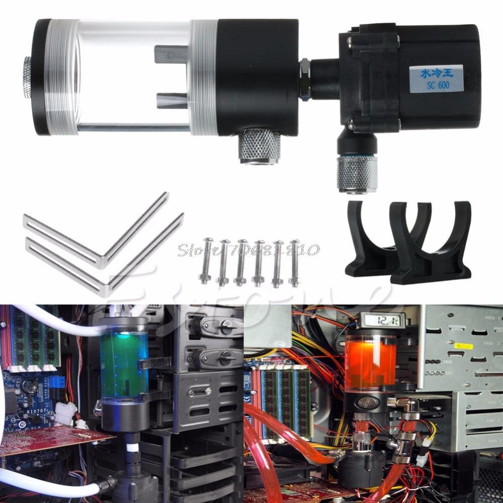 Prix pour 110mm Cylindre réservoir D'eau + SC600 Pompe De Refroidissement de L'eau de L'ordinateur Radiato Ensemble-R179 Drop Shipping