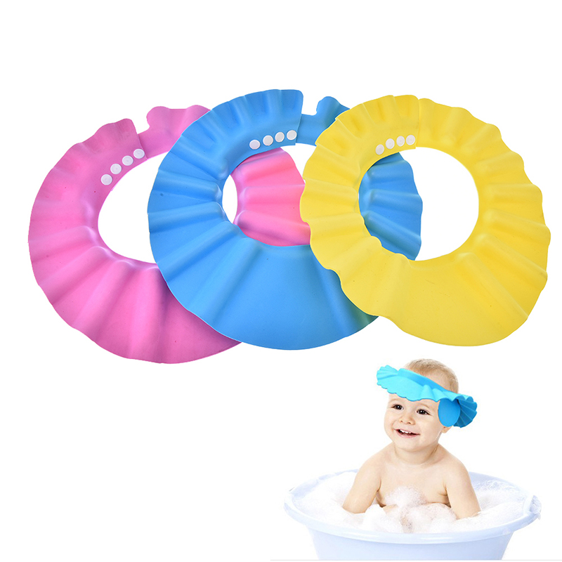 New Safe Shampoo Baby Shower Cap Bathing Bath Protect Soft Cap Hat For Baby Kids