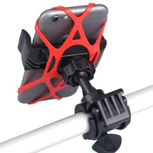 360 Degree Silicone Spider Web To Fix QuakeProof Bicycle Bike Handlebar Cell Phone Mount Holder For iPhone 6s Samsung S7 GPS