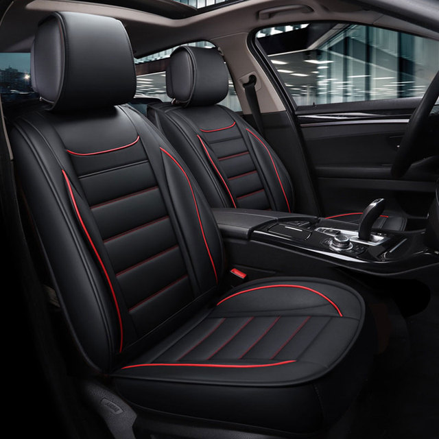 PU leather car seat covers waterproof mat auto cushion car ...