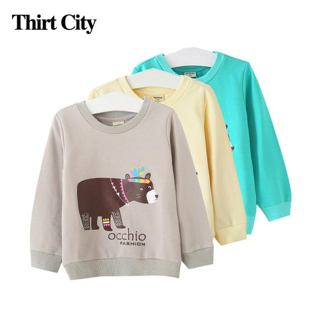11.11 2-7years Sweatshirt Baby Girls T Shirts 2016 Cute Cotton Girls Sweatshirt Boys Clothes Infant Spring Autumn Winter