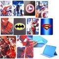 Для Samsung Galaxy Tab 4 10.1 T530 T531 T535 Стенд PU кожаный Планшет Чехол Окрашены Паук Супермен Для Samsung T530 Случай