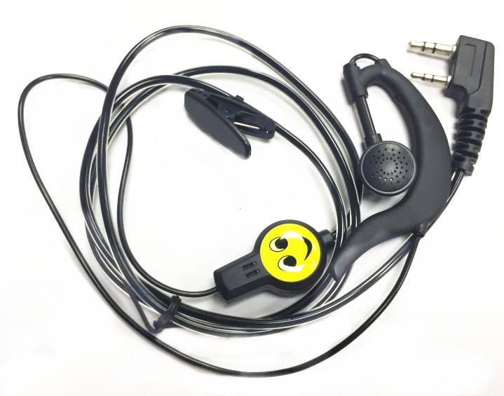 New 2019 Crystal Black 2PIN Headphones For Baofeng UV5R UV82 UV6R For Kenwood TK3207 TK3207G Radios