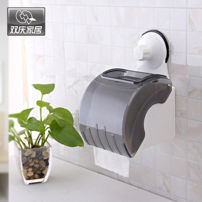 Paper box Tissue box Toilet paper holder Strong suction sucker waterproof paper towel rack toilet paper holder