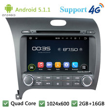 Quad Core 8″ 1024*600 Android 5.1.1 Car DVD Player Radio DAB+ 3G/4G WIFI GPS Map For Kia Cerato K3 Forte 2013 Left Hand Driving
