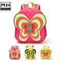 Mariposa Neopreno impermeable regalo de Los Niños de kindergarten bebé mochila niños bolsas escuela mochila diseño muchachas del cabrito juguete encantador